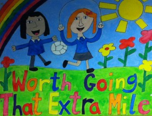 picture by Lowgill schoolchildren, go the extra mile