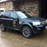 The new freelander, on loan to B4RN for 12 Months from the Princes Countryside Trust fund and Landrover